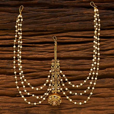 14949 Antique Bore Damini with gold plating