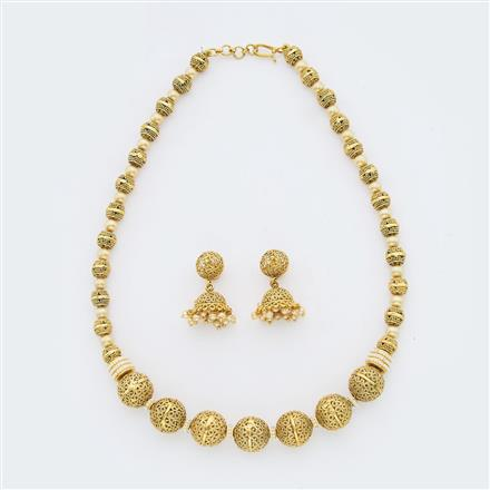 14954 Antique Mala Necklace with gold plating