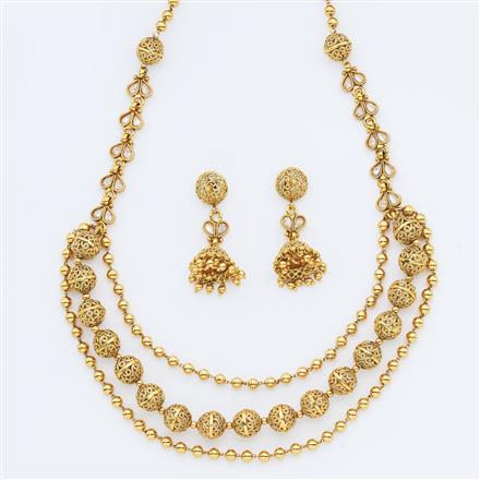 14958 Antique Mala Necklace with gold plating