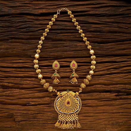 14960 Antique Mala Pendant Set with gold plating