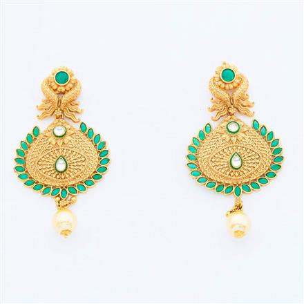 14964 Antique Classic Earring with gold plating