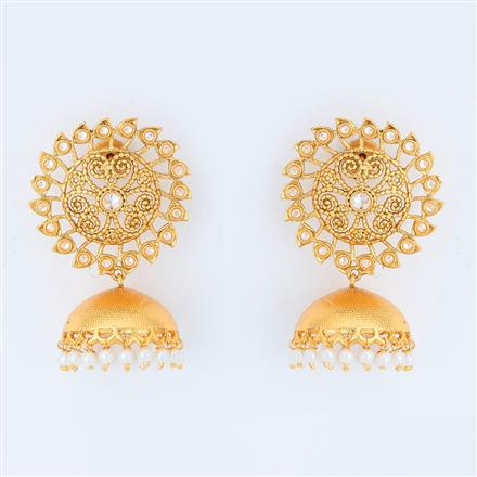 14967 Antique Jhumki with gold plating