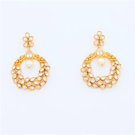 14969 Antique Chand Earring with gold plating