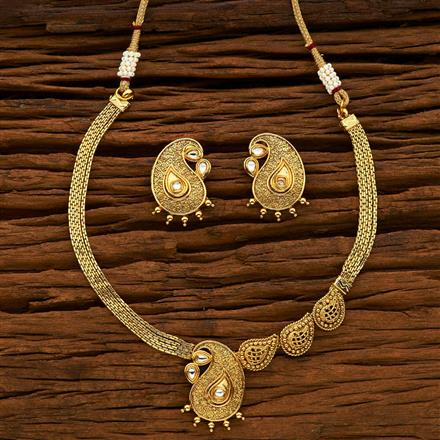 14970 Antique Classic Necklace with gold plating
