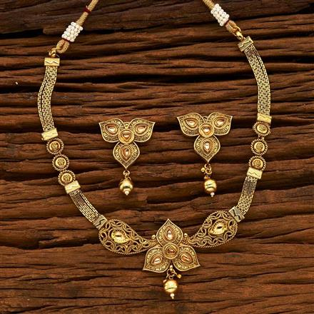 14971 Antique Classic Necklace with gold plating