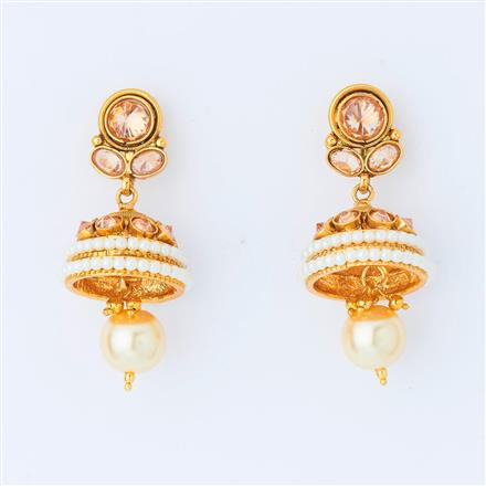 14972 Antique Delicate Earring with gold plating