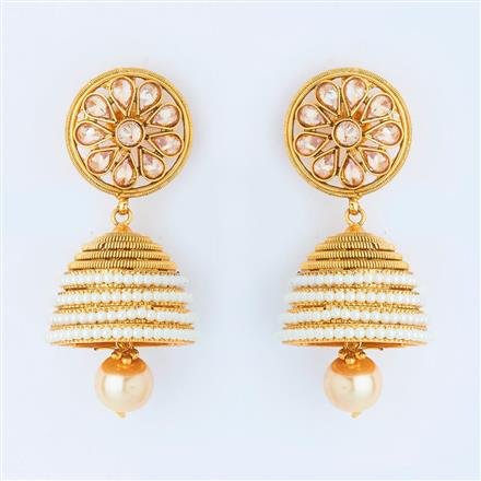 14973 Antique Jhumki with gold plating
