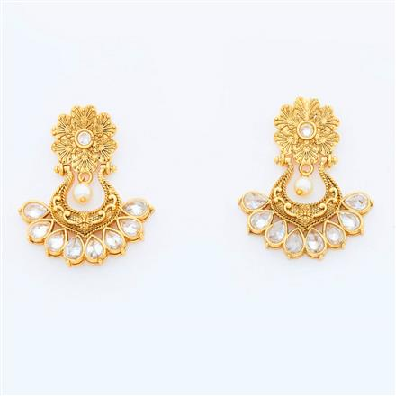 14982 Antique Chand Earring with gold plating