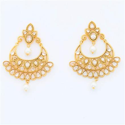 14984 Antique Chand Earring with gold plating