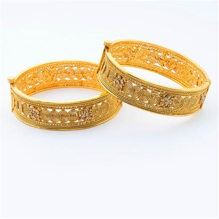 14987 Antique Openable Bangles with gold plating