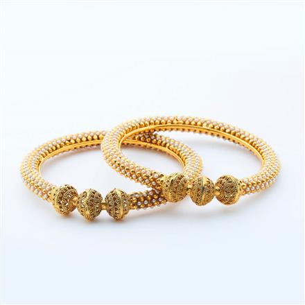 14988 Antique Classic Bangles with gold plating