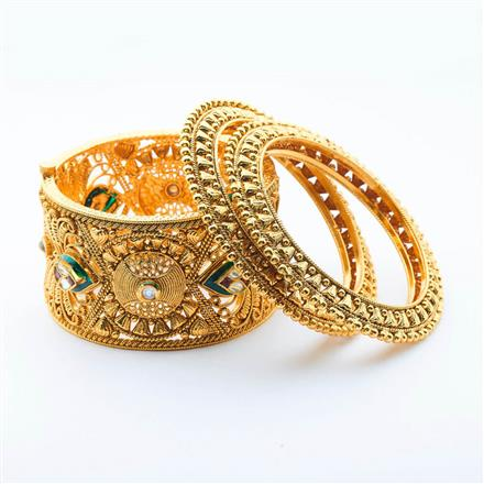 14997 Antique Openable Bangles with gold plating