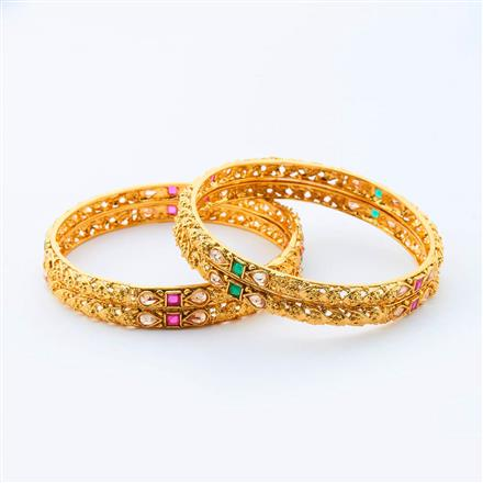 14998 Antique Classic Bangles with gold plating