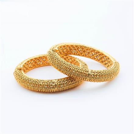 15002 Antique Plain Gold Bangles