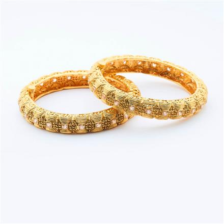 15003 Antique Openable Bangles with gold plating