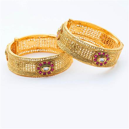 15004 Antique Openable Bangles with gold plating