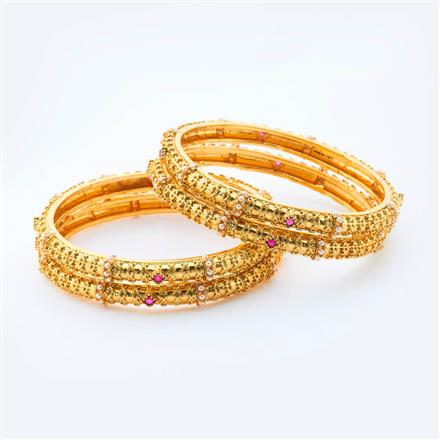 15005 Antique Classic Bangles with gold plating