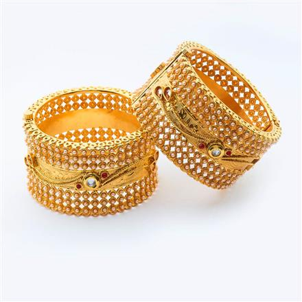 15007 Antique Openable Bangles with gold plating