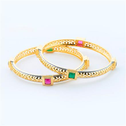 15010 Antique Classic Bangles with gold plating