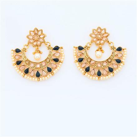 15025 Antique Chand Earring with gold plating