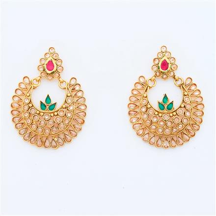 15026 Antique Chand Earring with gold plating