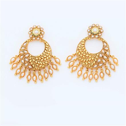 15027 Antique Chand Earring with gold plating