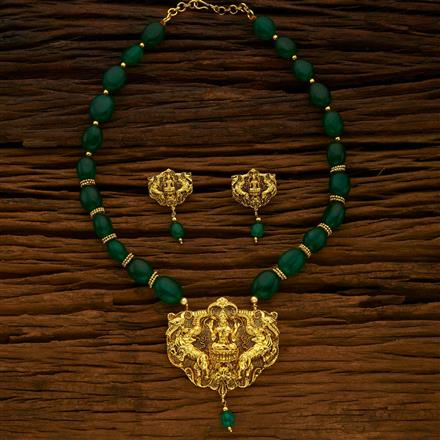 15031 Antique Temple Pendant Set with gold plating