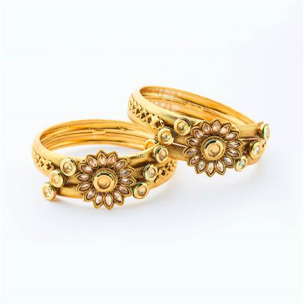 15037 Antique Classic Bangles with gold plating