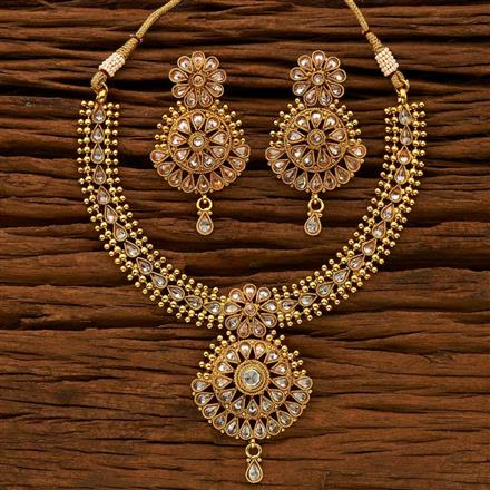 15044 Antique Classic Necklace with gold plating