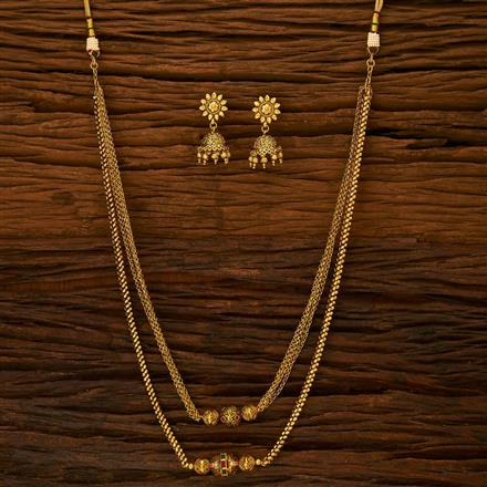 15053 Antique Mala Necklace with gold plating
