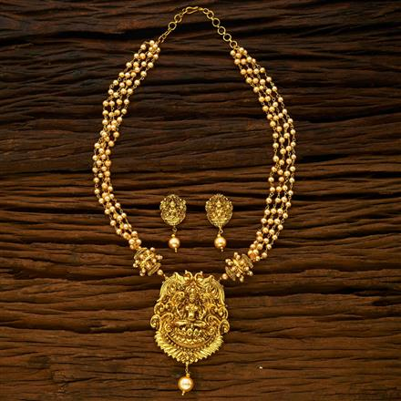 15077 Antique Temple Pendant Set with gold plating