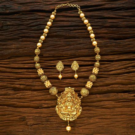 15078 Antique Temple Pendant Set with gold plating