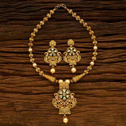 15083 Antique Mala Pendant Set with gold plating
