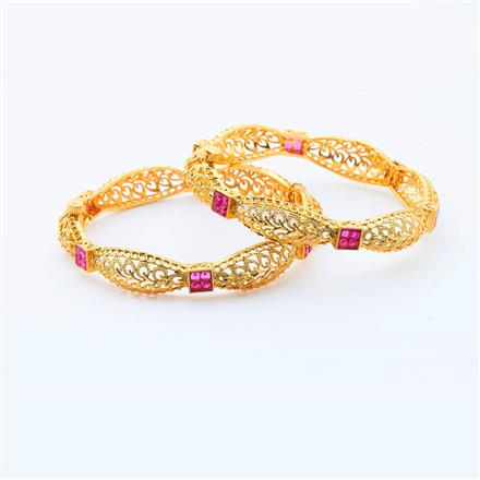 15087 Antique Openable Bangles with gold plating