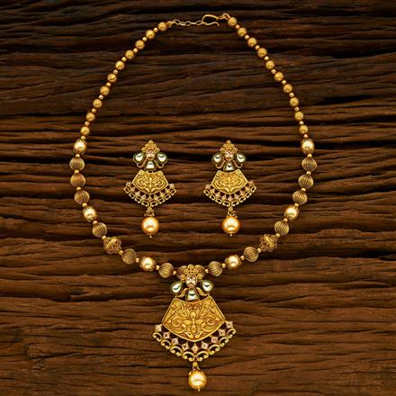 15115 Antique Mala Pendant Set with gold plating