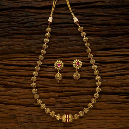 15116 Antique Mala Necklace with gold plating