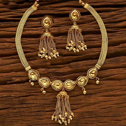 15144 Antique Classic Necklace with gold plating