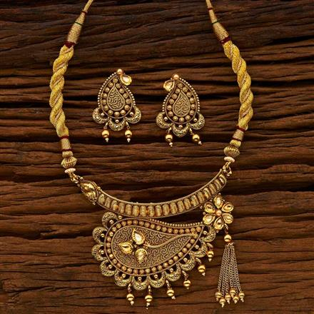 15147 Antique Choker Necklace with gold plating