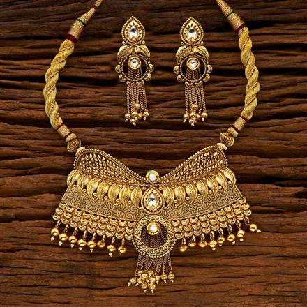 15148 Gold plated Padmavati style Necklace