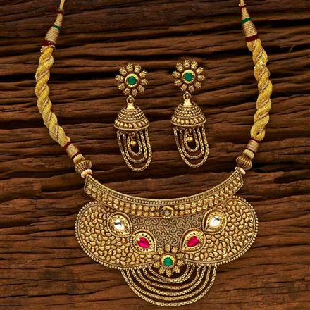 15149 Antique Choker Necklace with gold plating