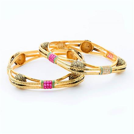 15153 Antique Classic Bangles with gold plating