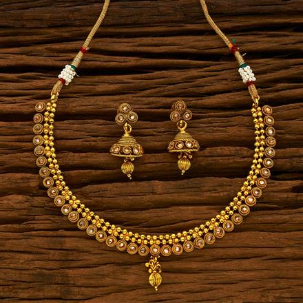 15175 Antique Classic Necklace with gold plating