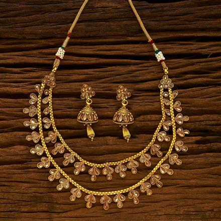 15176 Antique Classic Necklace with gold plating