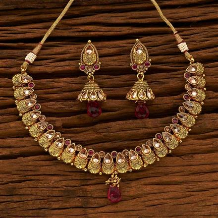 15177 Antique Classic Necklace with gold plating