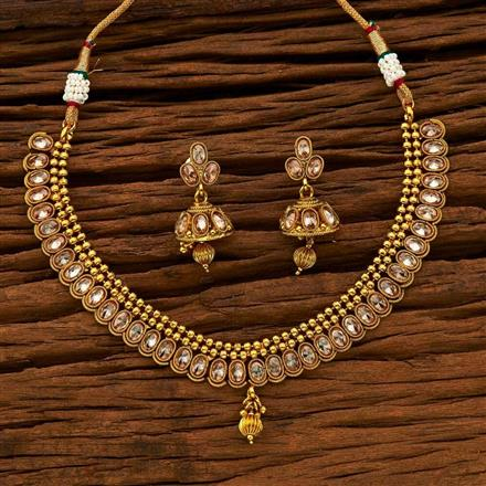 15208 Antique Classic Necklace with gold plating
