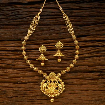 15236 Antique Temple Pendant Set with gold plating