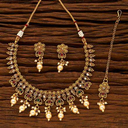 15243 Antique Classic Necklace with gold plating