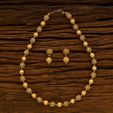 15246 Antique Mala Necklace with gold plating