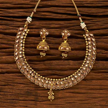 15282 Antique Classic Necklace with gold plating