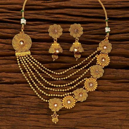 15294 Antique Classic Necklace with gold plating
